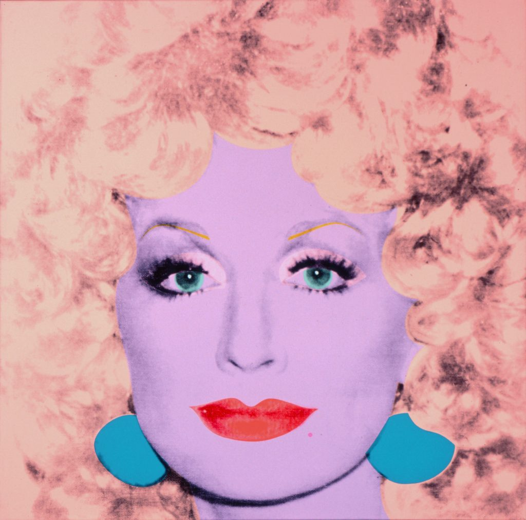 Andy Warhol, Dolly Parton, 1985, acrylic and silkscreen ink on linen, 42 x 42 in., Collection of The Andy Warhol Museum, Pittsburgh, © 2016 The Andy Warhol Foundation for the Visual Arts, Inc. / Artists Rights Society (ARS), New York