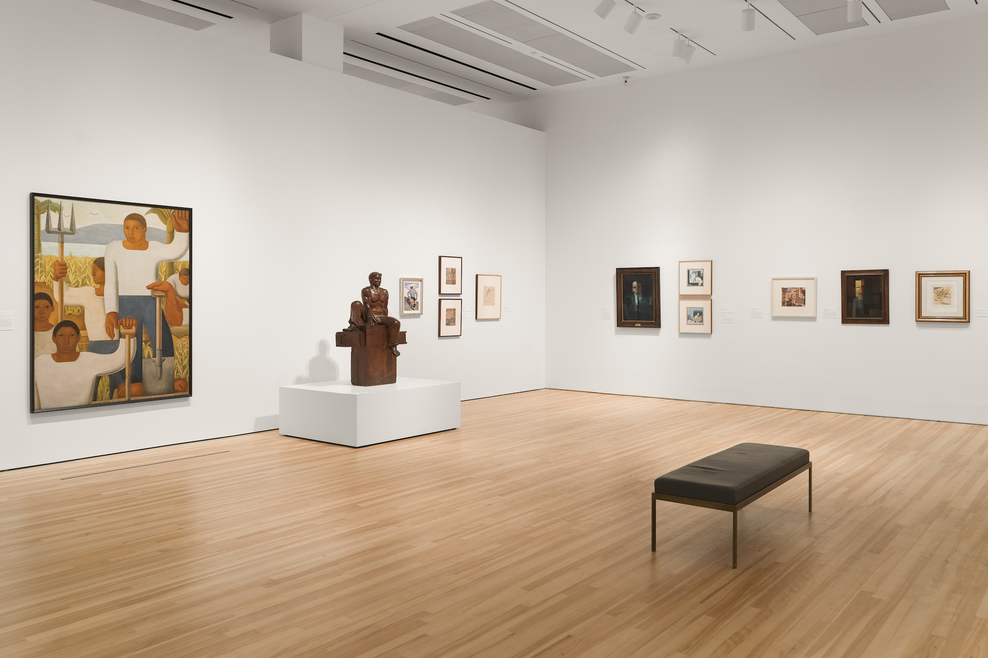"""Installation View of """"Amauta"""" exhibition at the Blanton Museum of Art, The University of Texas at Austin"""