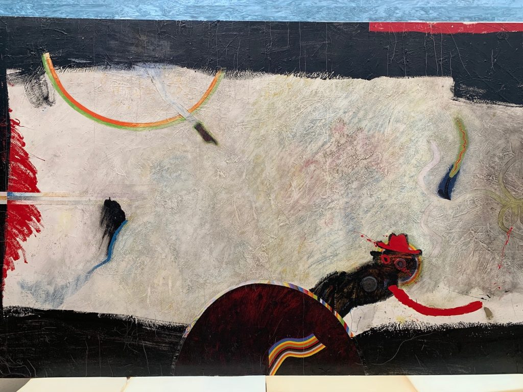 """An abstract art painting by Oliver Lee Jackson, """"Untitled (Sharpeville Series)"""""""