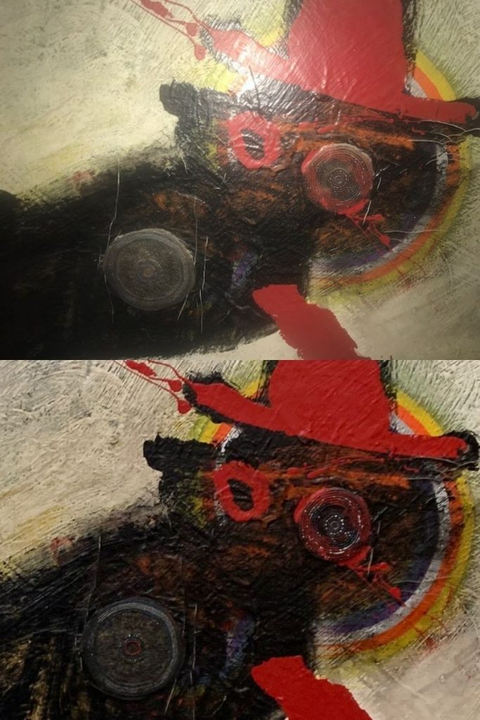 """Detail of abstract work of art by Oliver Lee Jackson titled """"Untitled (Sharpeville Series), 1977"""