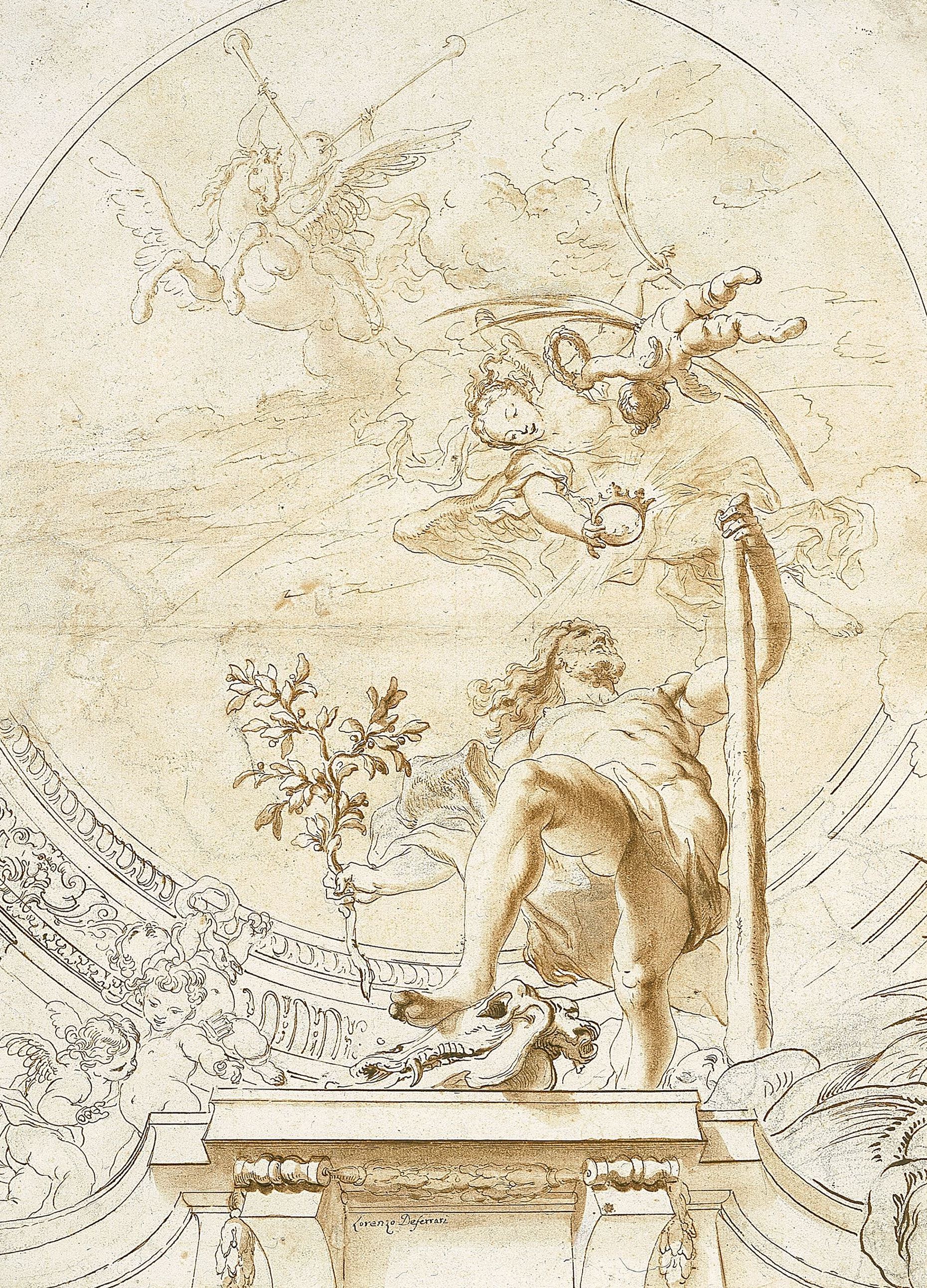 "Lorenzo de' Ferrari ""Triumph of Hercules"" show in Illusion and Imagination: Pictorial Decorations for Architectural Spaces, 1500–1800"