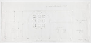 A pencil study of the West wall of Ellsworth Kelly's Austin