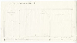 A pencil study of the East wall of Ellsworth Kelly's Austin