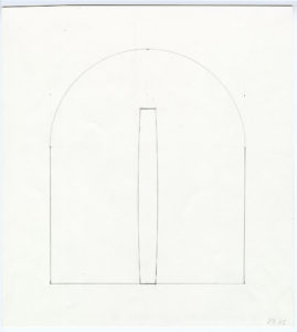 A study of a bronze totem for the altar area of Ellsworth Kelly's Austin