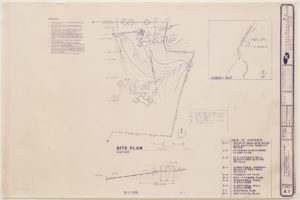 """Blueprint of """"Cramer chapel"""" showing the location of the chapel on the Cramer property"""