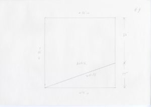 Black and white minimalist pencil sketch of Ellsworth Kelly, Station of the Cross 9, 1989