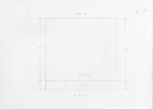 Black and white minimalist pencil sketch of Ellsworth Kelly, Station of the Cross 10, 1989