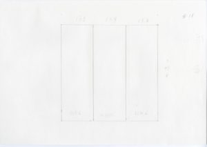 Black and white minimalist pencil sketch of Ellsworth Kelly, Station of the Cross 11, 1989
