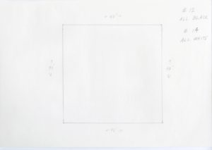 Black and white minimalist pencil sketch of Ellsworth Kelly, Station of the Cross 12 and 14, 1989
