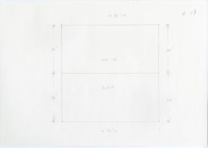 Black and white minimalist pencil sketch of Ellsworth Kelly, Station of the Cross 13, 1989