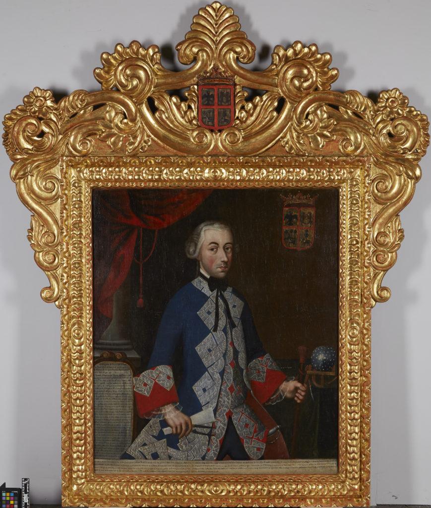 """Painting by unknown artist, titled """"Retrato de Gregorio de Viana [Portrait of Gregorio de Viana]"""""""