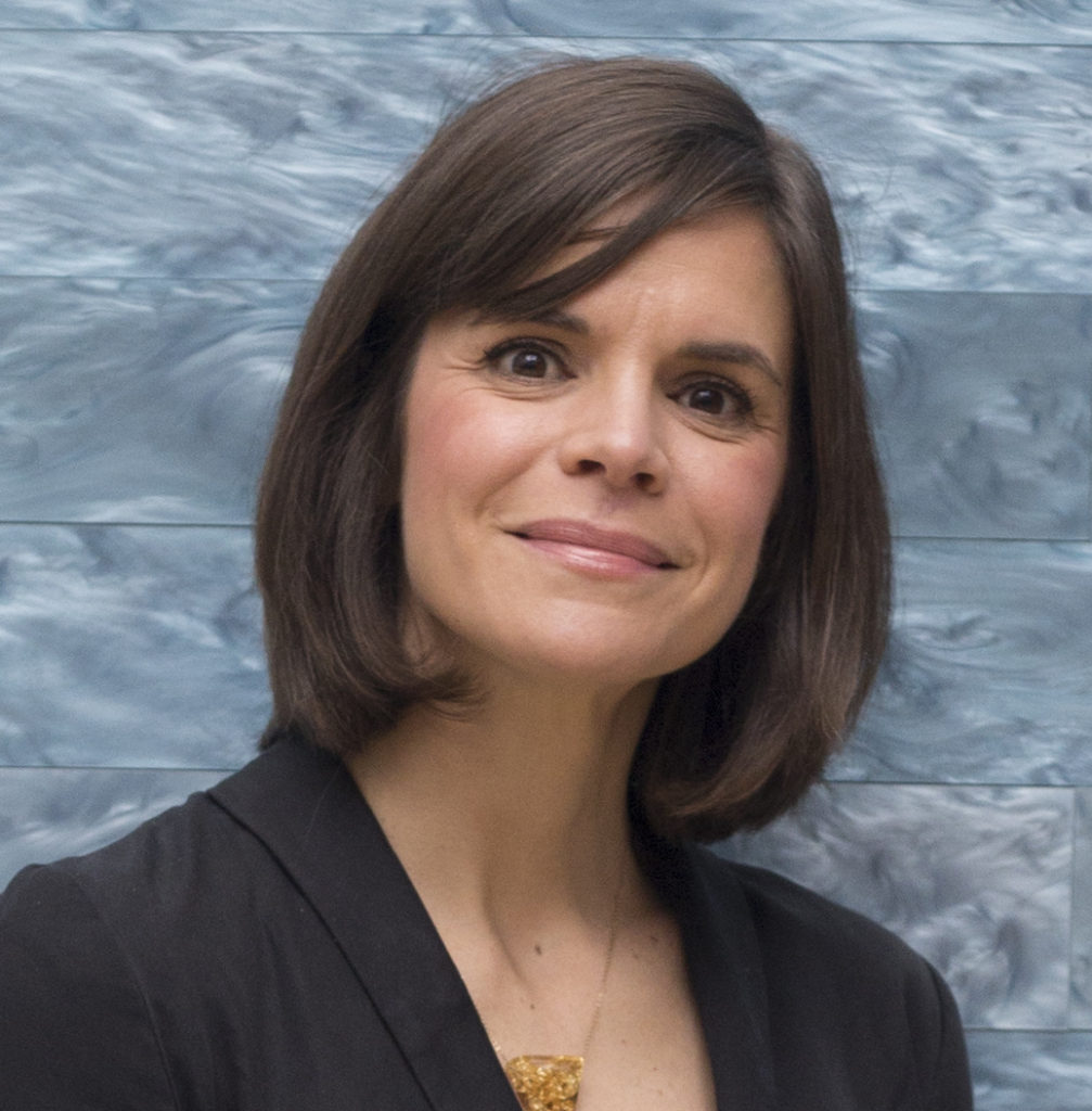 Head shot of Holly Borham, Assistant Curator of Prints and Drawings at the Blanton Museum of Art