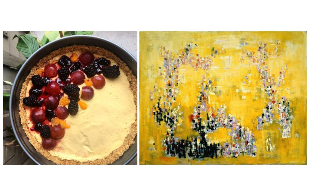 "Mango Tart by Sharmistha Chaudhuri / Inspired by Normal Wilfred Lewis' ""La Puerto Del Sol."""