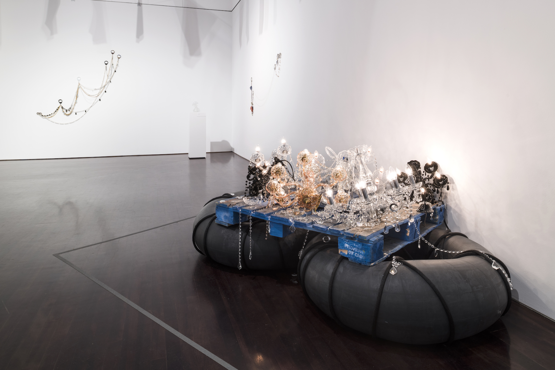"Installation of ""Kambui Olujimi: Zulu Time"" at the Blanton Museum of Art, The University of Texas at Austin, January 26–July 14, 2019."