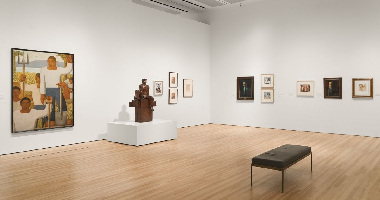 "Installation view of exhibition ""The Avant-Garde Networks of Amauta"""