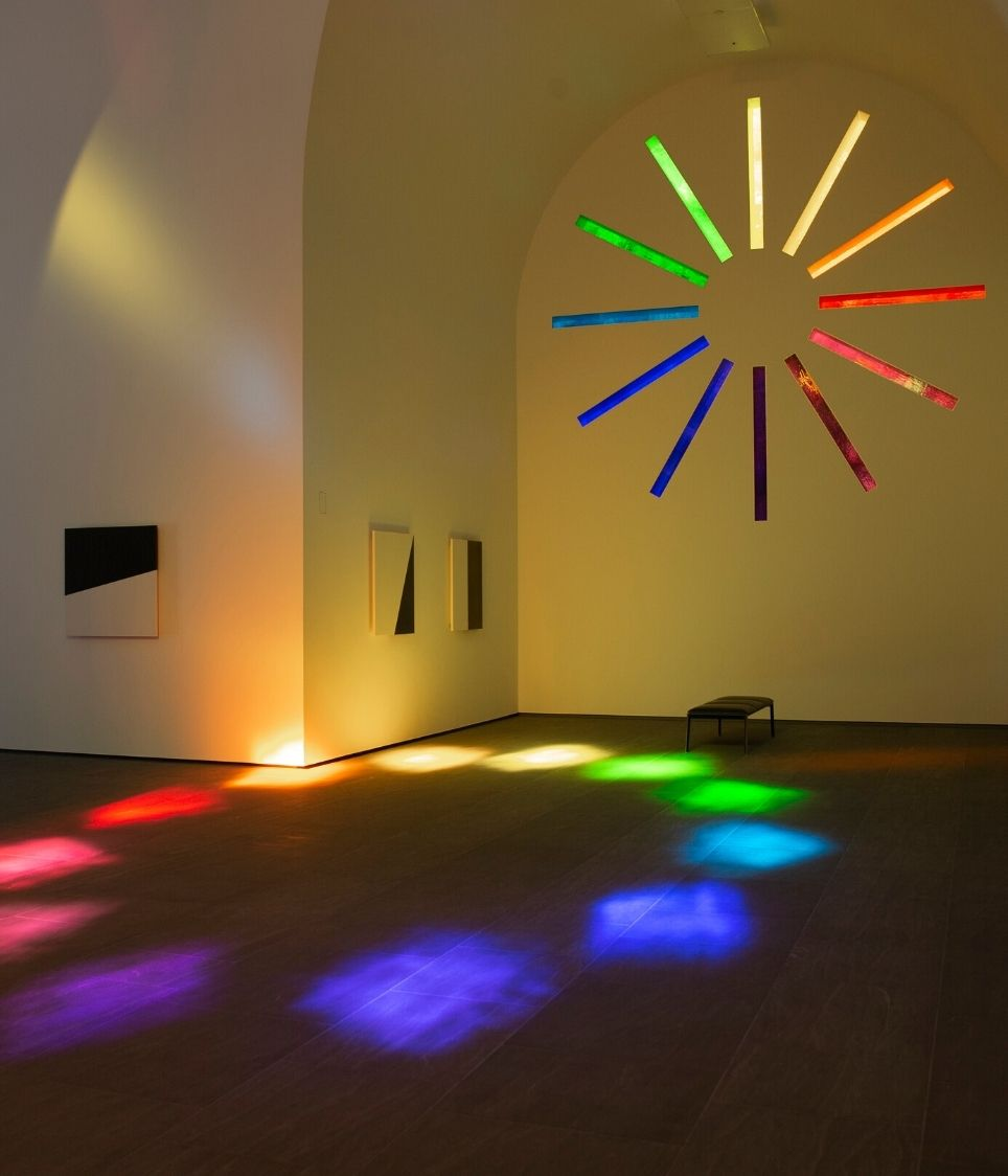 Interior view inside Austin by Ellsworth Kelly