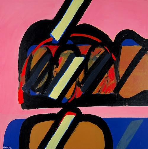 "Manuel Hernández-Gómez, ""Formas [Forms],"" 1969, oil on canvas, 54 3/4 x 54 3/4, Blanton Museum of Art, The University of Texas at Austin, Archer M. Huntington Museum Fund, P1970.9.1"