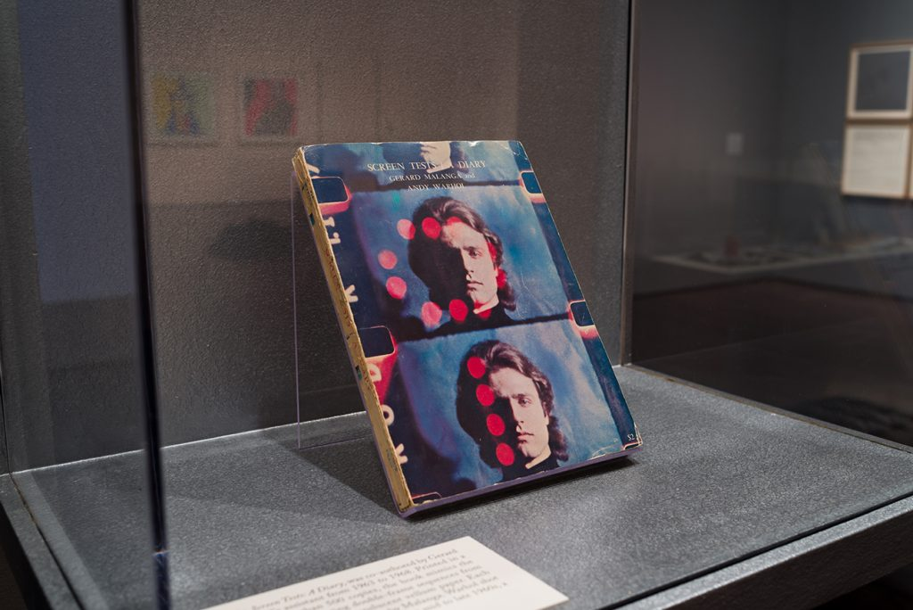 A printed book in a display case