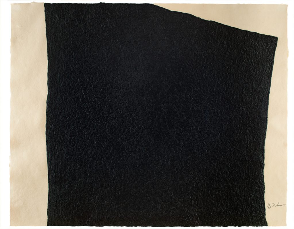 "Richard Serra, ""Hreppholar V,"" 1991, One-color intaglio construction, Blanton Museum of Art, The University of Texas at Austin, Bequest of John A. Robertson, 2018"